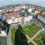 Kirchenplatz Vogelperspektive